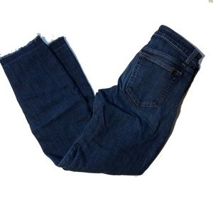 Joes Jeans raw hem fit straight ankle size 28
